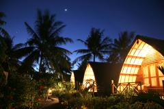 Manta bungalows night time Gili Islands