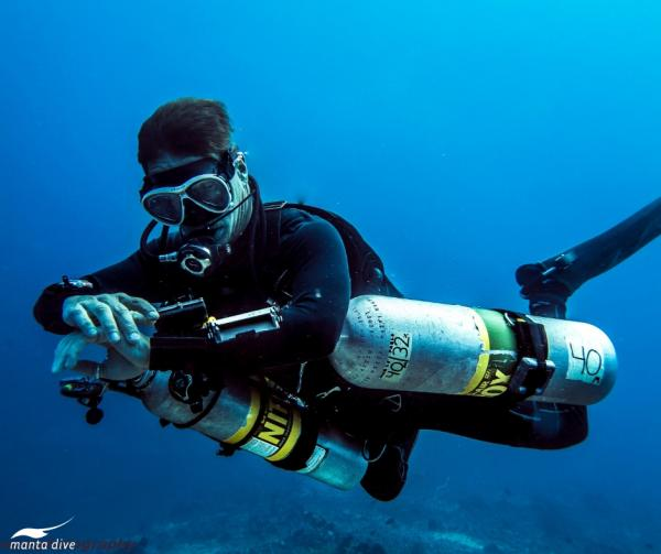 Gili Trawangan offers world class tech diving opportunities.